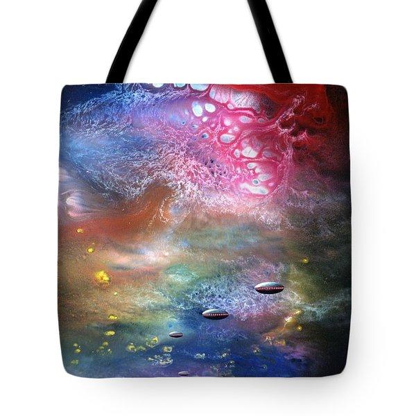 The Arrival Tote Bag by Lee Pantas