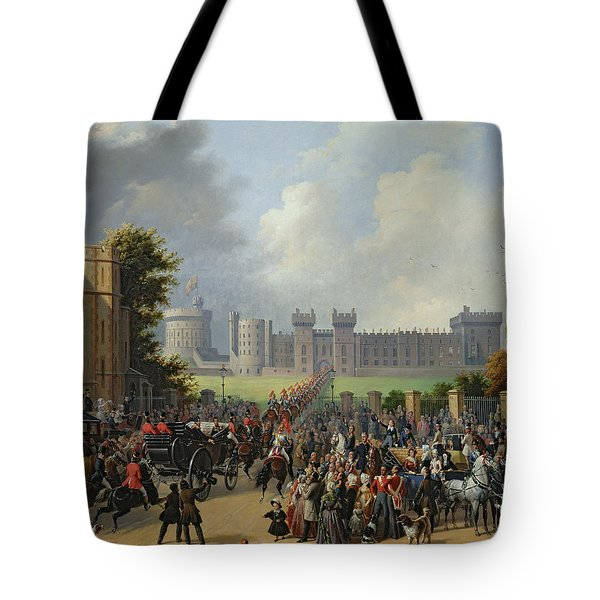 The Arrival Of Louis-philippe Tote Bag by Edouard Pingret