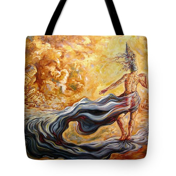 The Arrival Of The Goddess Of Consciousness Tote Bag by Darwin Leon