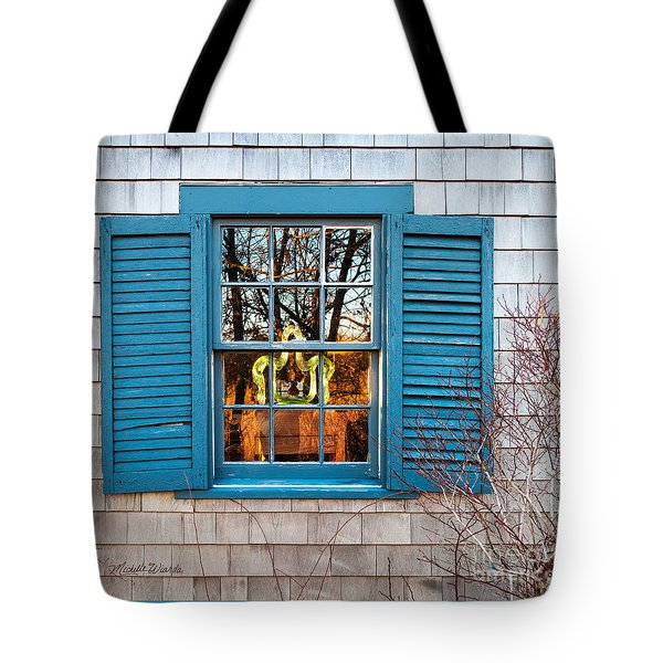 Tote Bag featuring the photograph The Art In The Window by Michelle Wiarda