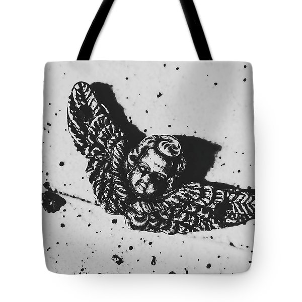 The Art Of A Vintage Angel Tote Bag