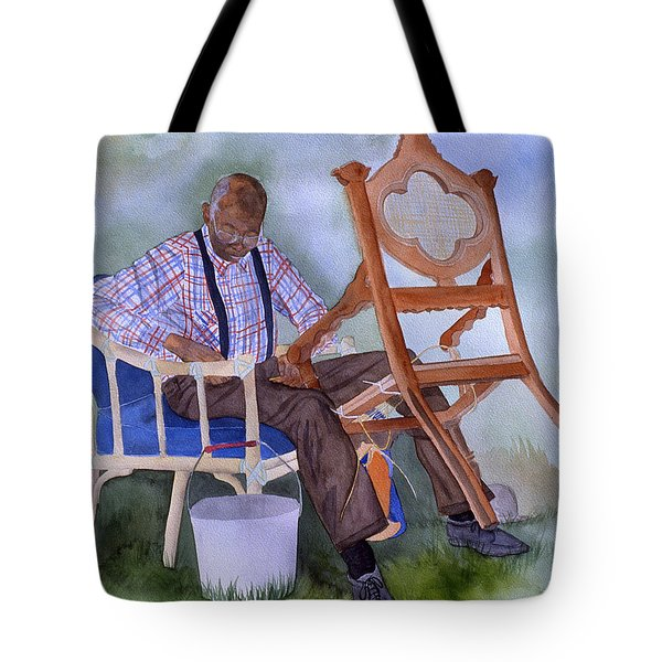 The Art Of Caning Tote Bag by Jean Blackmer