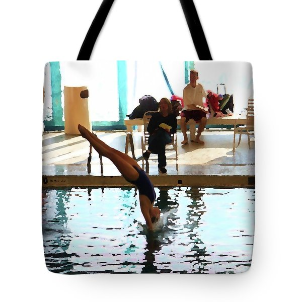 The Art Of Diving 3 Tote Bag