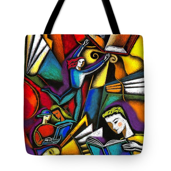 Tote Bag featuring the painting The Art Of Learning by Leon Zernitsky