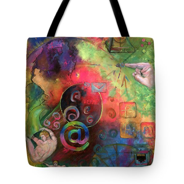 The Art Of The Net Tote Bag by Peter Bonk