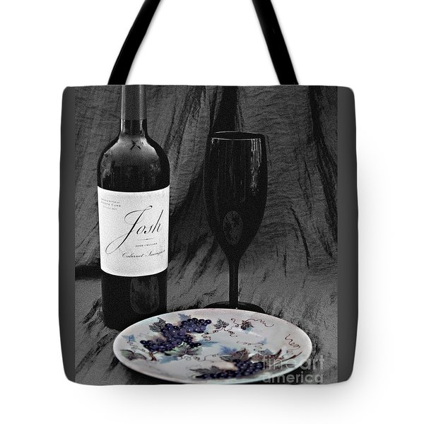 The Art Of Wine And Grapes Tote Bag by Sherry Hallemeier