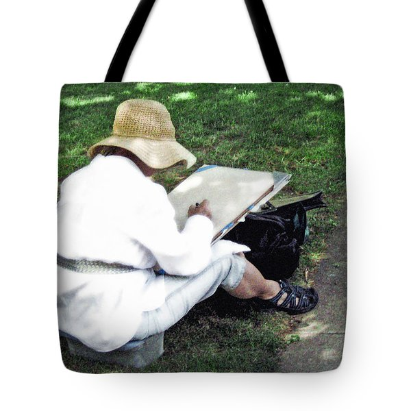 Tote Bag featuring the photograph The Artist by Keith Armstrong