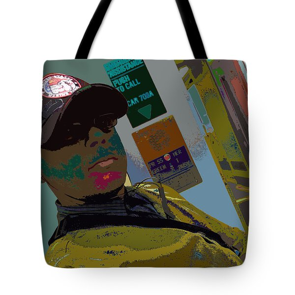 the artist - MARINE CORPORAL kenneth james Tote Bag