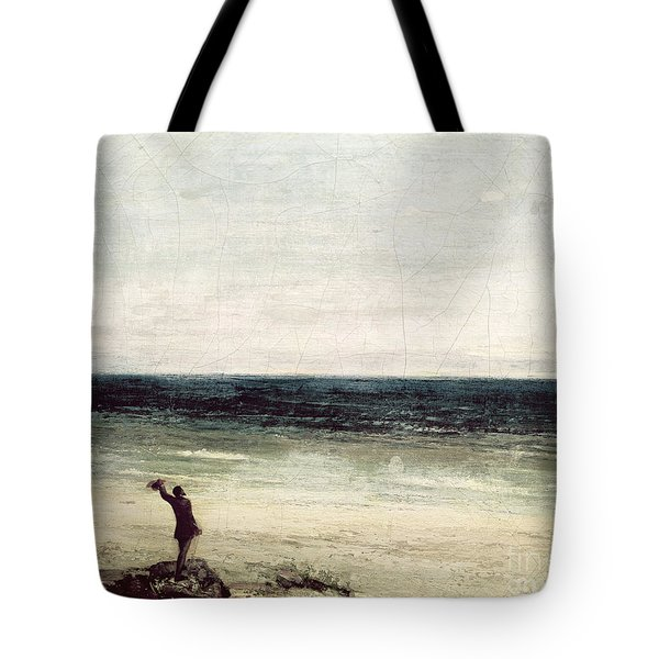 The Artist On The Seashore At Palavas Tote Bag by Gustave Courbet