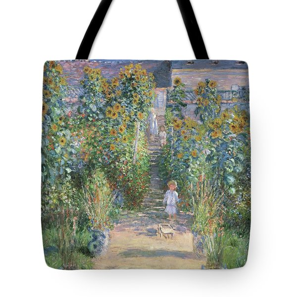 The Artists Garden At Vetheuil Tote Bag