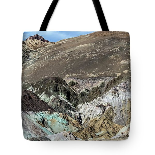 Tote Bag featuring the photograph The Artists Palette Death Valley National Park by Michael Rogers
