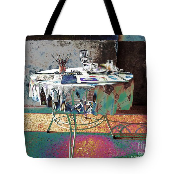 The Artists Table Tote Bag by Don Pedro De Gracia