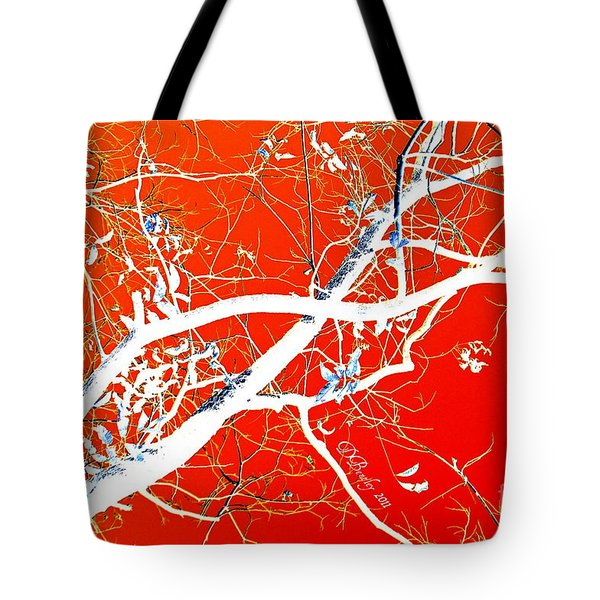 Tote Bag featuring the photograph The Asian Tree by Donna Bentley