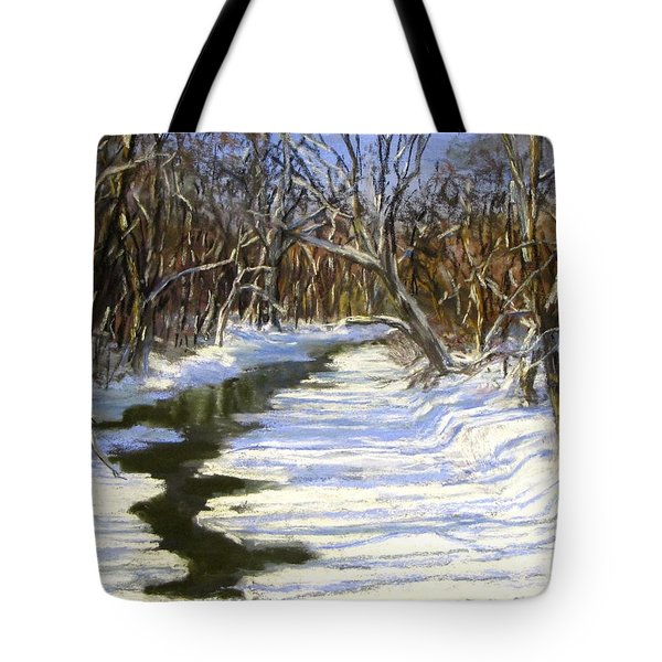The Assabet River In Winter Tote Bag by Jack Skinner