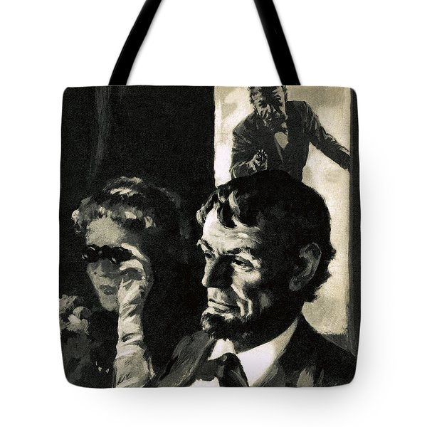 The Assassination Of Abraham Lincoln Tote Bag by English School