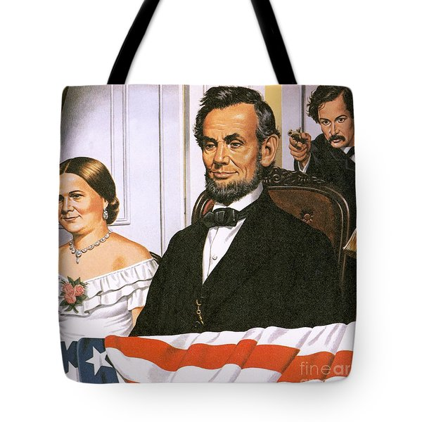The Assassination Of Abraham Lincoln Tote Bag by John Keay