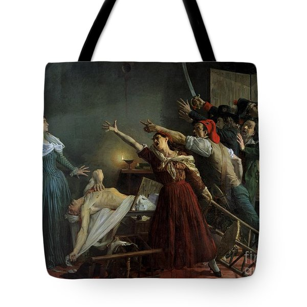 The Assassination Of Marat Tote Bag by Jean Joseph Weerts