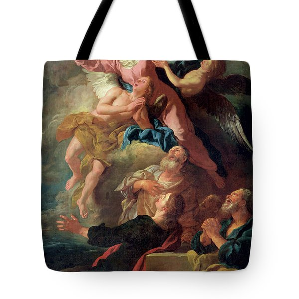 The Assumption Of The Virgin Tote Bag by Jean Francois de Troy
