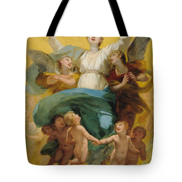The Assumption Of The Virgin Tote Bag by Pierre Paul Prudhon