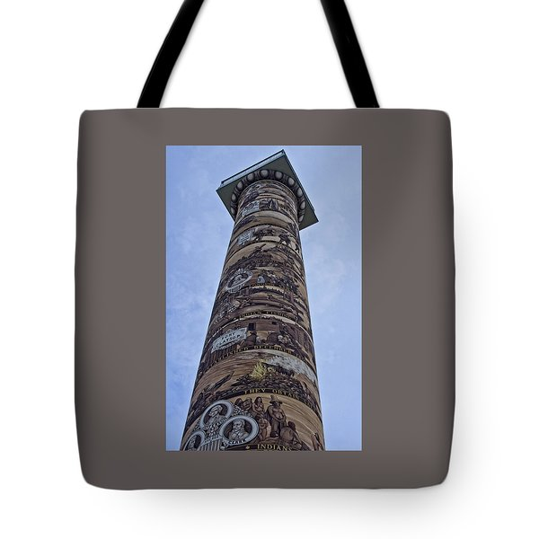 Tote Bag featuring the photograph The Astoria Column by Thom Zehrfeld