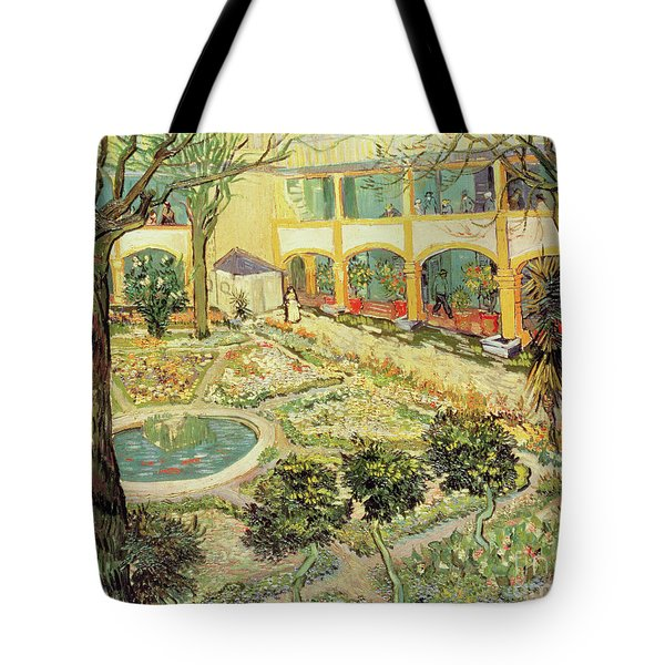 The Asylum Garden At Arles Tote Bag by Vincent van Gogh
