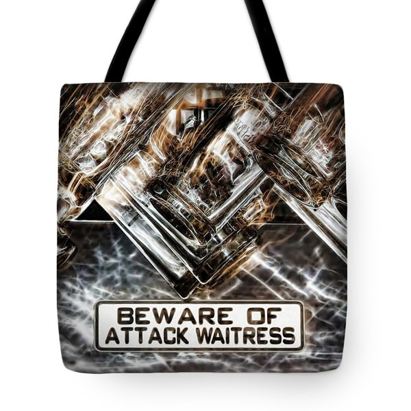 The Attack Waitress  Tote Bag by Joan  Minchak