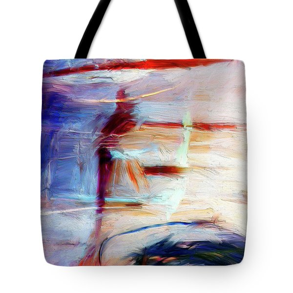 Tote Bag featuring the painting The Auberge by Dominic Piperata