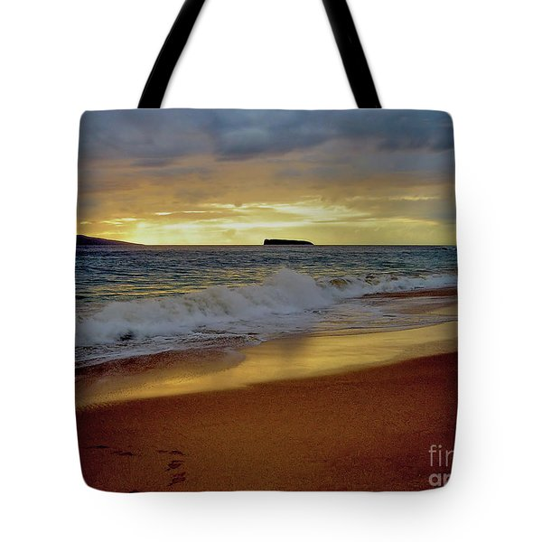 The Aura Of Molokini Tote Bag by Victor K
