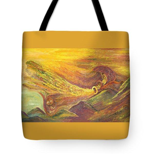 The Autumn Music Wind Tote Bag by Karina Ishkhanova