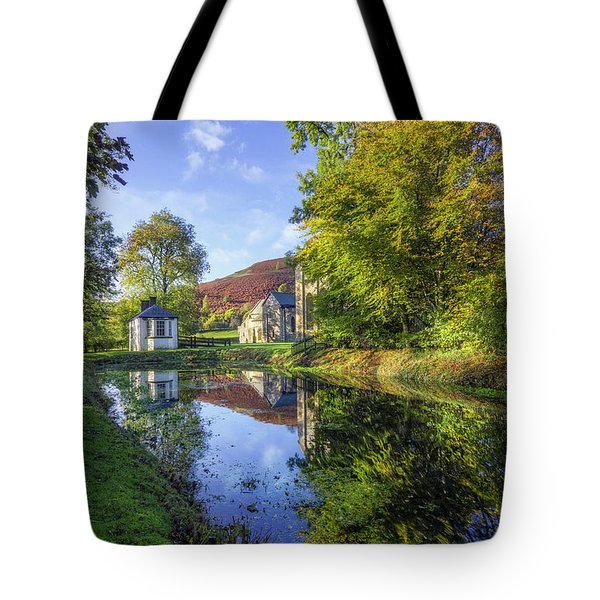 Tote Bag featuring the photograph The Autumn Pond by Ian Mitchell