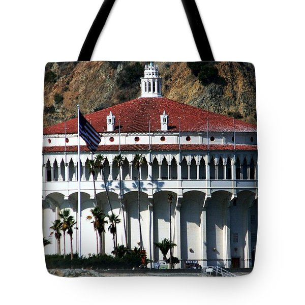 Tote Bag featuring the photograph The Avalon Casino by Polly Peacock