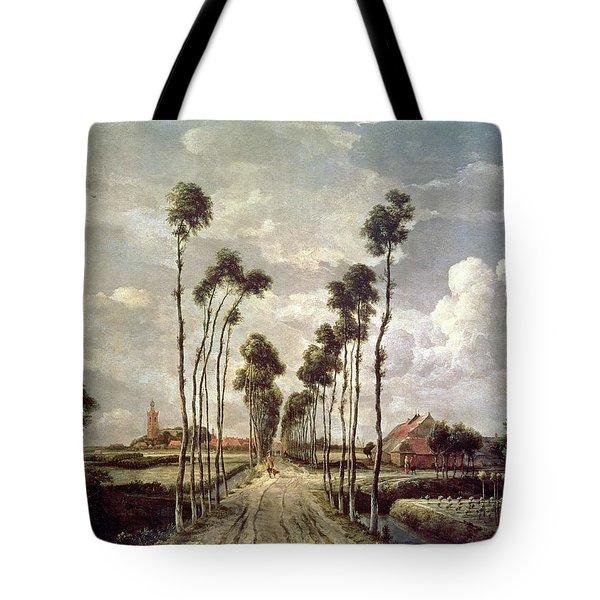 The Avenue At Middelharnis Tote Bag by Meindert Hobbema