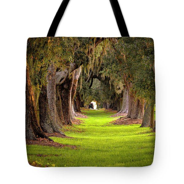 Tote Bag featuring the photograph The Avenue Of Oaks 4 St Simons Island Ga Art by Reid Callaway