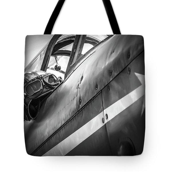The Aviator - Bw Series Tote Bag