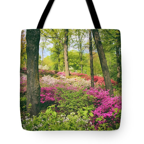 The Azalea Woodland Tote Bag by Jessica Jenney