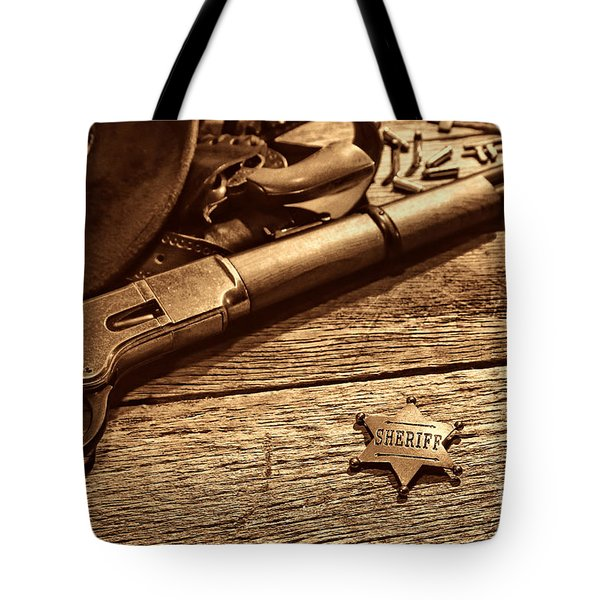 The Badge Tote Bag by American West Legend By Olivier Le Queinec