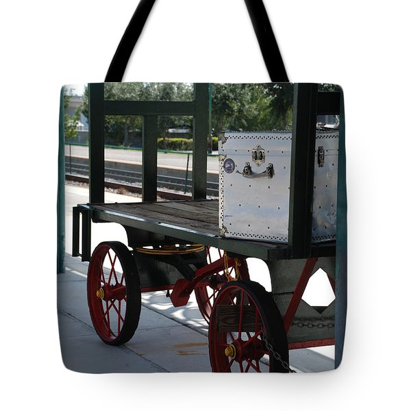 The Baggage Cart And Truck Tote Bag by Rob Hans