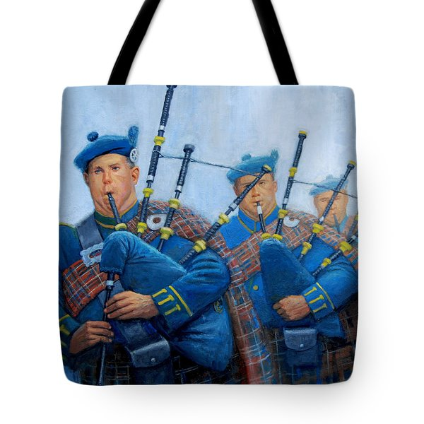 The Bagpipers Tote Bag