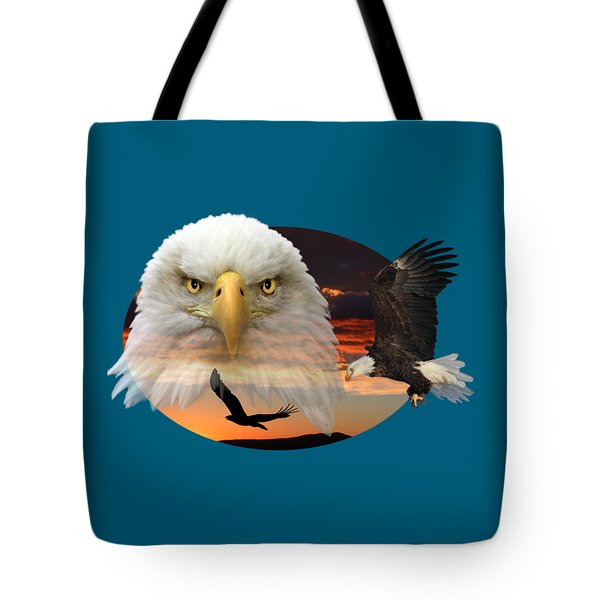 Tote Bag featuring the photograph The Bald Eagle 2 by Shane Bechler