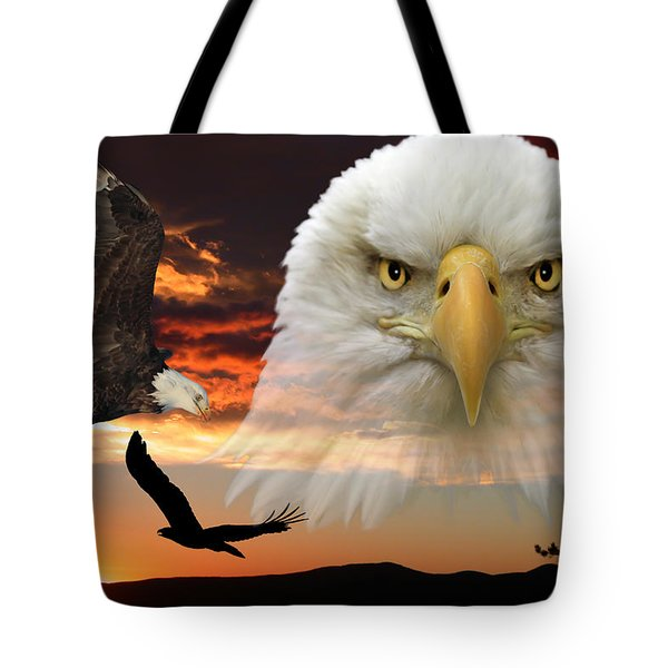 Tote Bag featuring the photograph The Bald Eagle by Shane Bechler