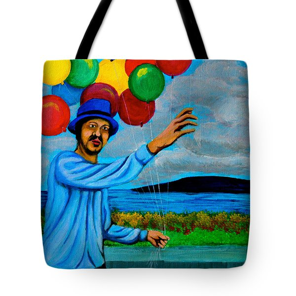 The Balloon Vendor Tote Bag