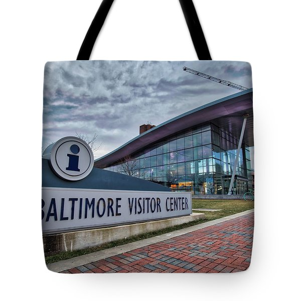 Tote Bag featuring the photograph The Baltimore Visitors Center by Mark Dodd