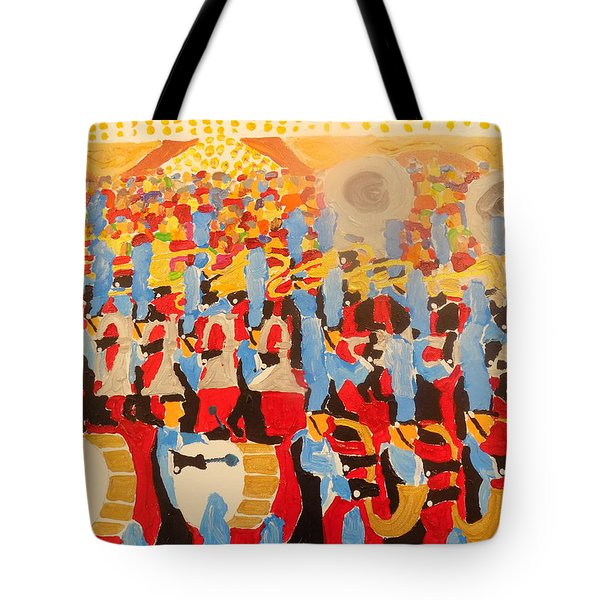 The Band Tote Bag by Rodger Ellingson
