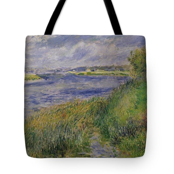 The Banks Of The Seine Champrosay Tote Bag by Pierre Auguste Renoir