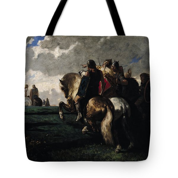 The Barbarians Before Rome Tote Bag by Evariste Vital  Luminais