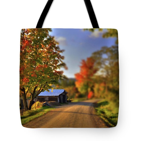The Barn At The Bend Tote Bag