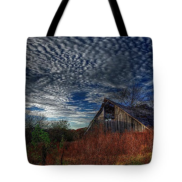 The Barn At Twilight Tote Bag