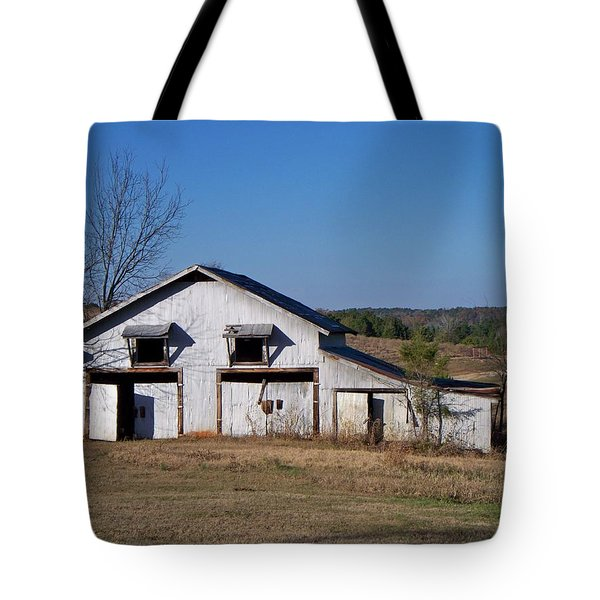 Tote Bag featuring the photograph The Barn by Betty Northcutt