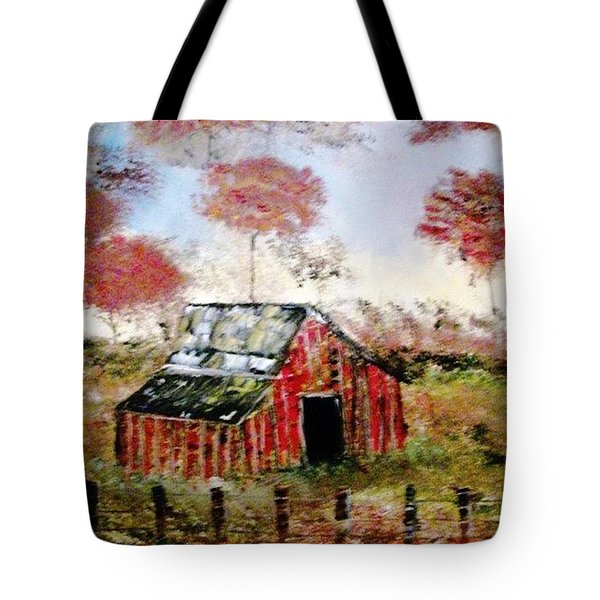 The Barn Tote Bag by Debbie