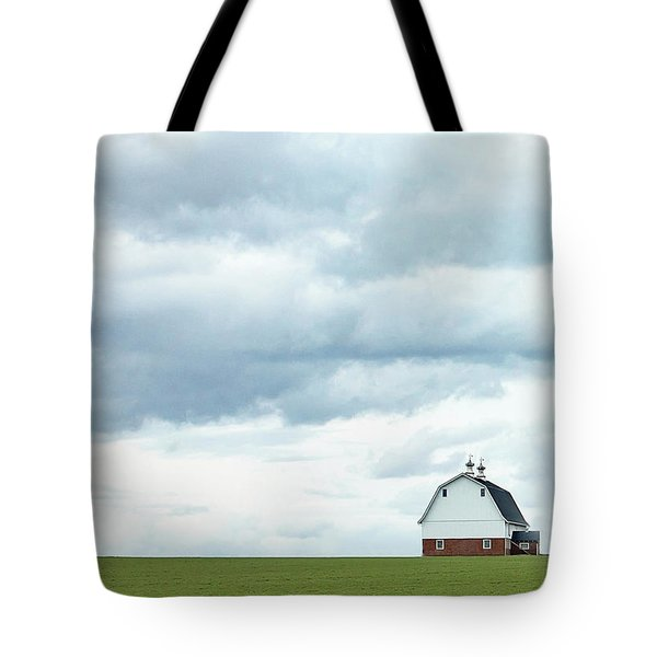 Tote Bag featuring the photograph The Barn by Rebecca Cozart